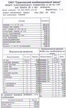 Рецепт полноценного комбикорма № КК-62-786
